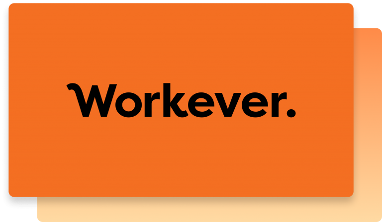 Workever app logo on native orange background